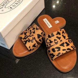 Leopard Cowhide Sandals- 9.5